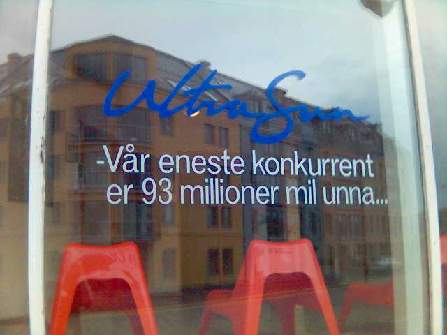 UltraSun: VÃ¥r eneste konkurrent er 93 millioner mil unna...